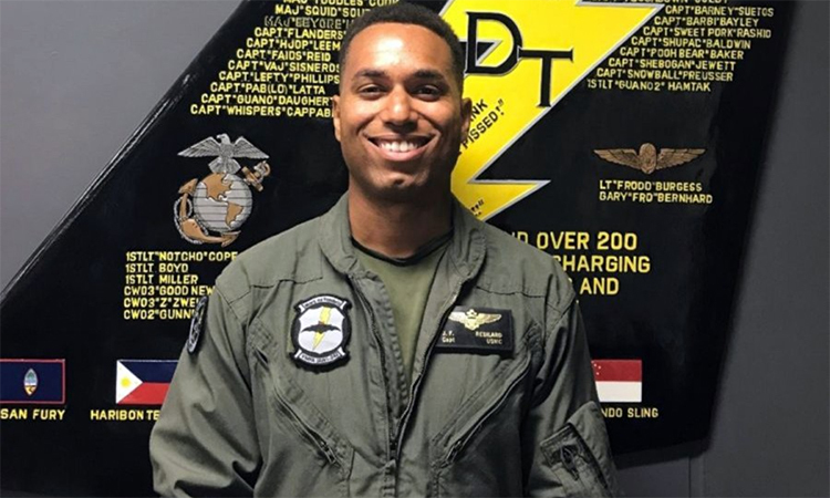Captain Jahmar Resilard, F / A-18D pilot died after a collision with a KC-130J refueling offshore Japan in December 2018. Photo: US Marine.