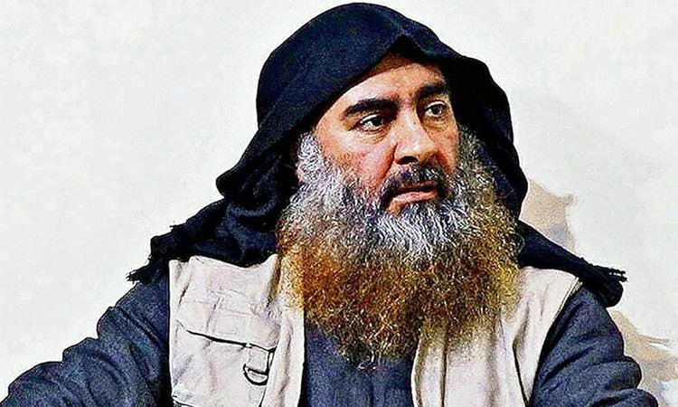 Abu Bakr al-Baghdadi in a painting published by the US Department of Defense in Washington on October 31. Photo: Reuters.