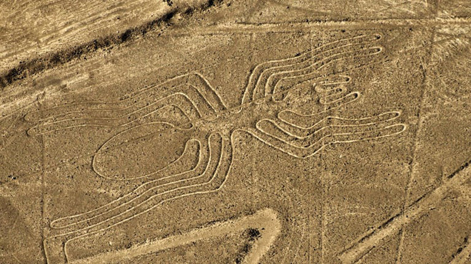 Using satellites taken from above, a series of huge, mysterious drawings in the middle of the desert in Peru was discovered - Photo 1.