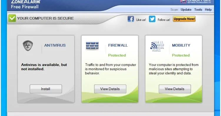 ZoneAlarm: Free Antivirus and Firewall protection together