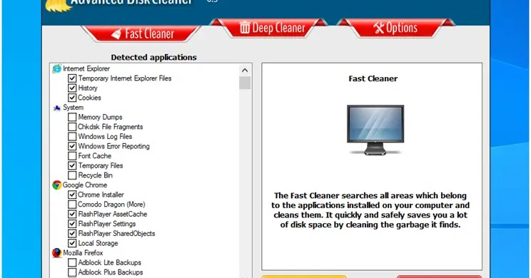 Advanced Disk Cleaner: Clean up rubbish files on your computer