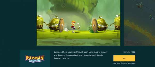rayman legends free epic games store 1 600x262 - Free Rayman Legends game scene very well