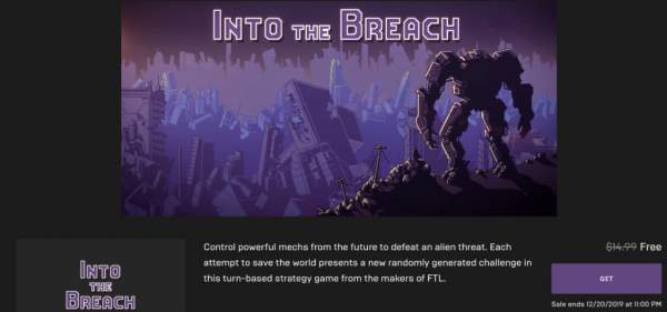 into the breach free epic games store 1 600x281 - Free turn-based strategy game Into The Breach is great