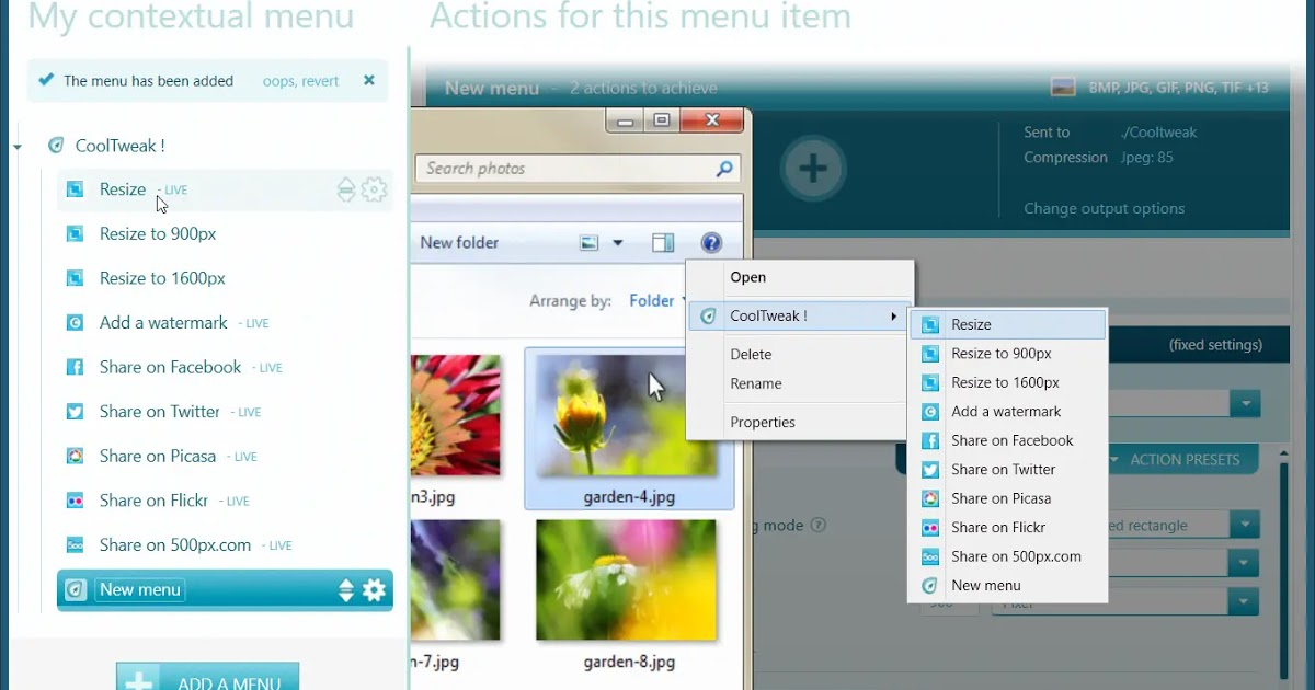 CoolTweak: Resize, add a watermark and edit your photos