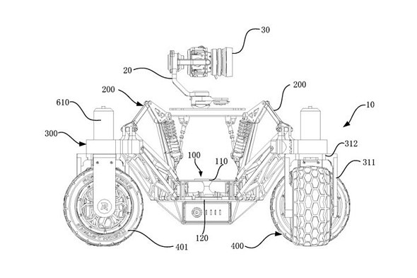DJI patents land-based vehicle with built-in camera and new gimbal system: Digital Photography Review