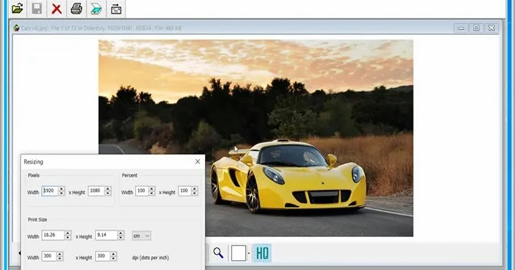 FreeVimager: Free image viewer and editor for Windows
