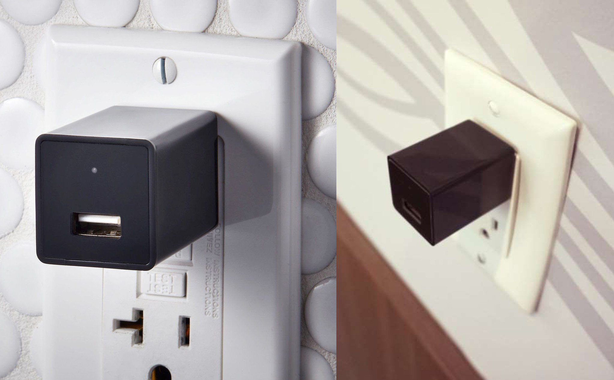 HD Mask USB Camera: It is both a phone charger and a security camera