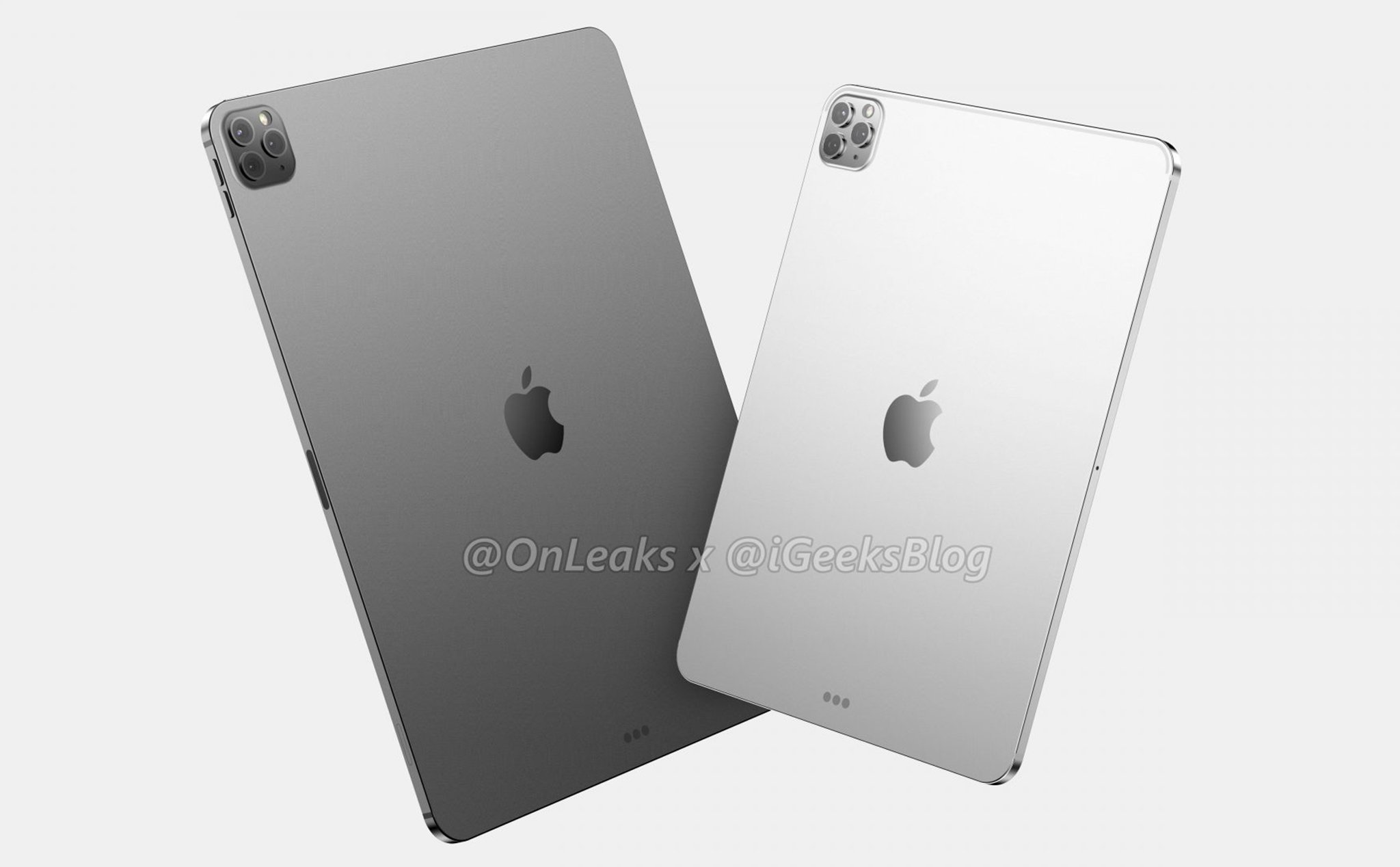 Leaked render of new iPad Pro with cluster of 3 cameras like on iPhone 11 Pro