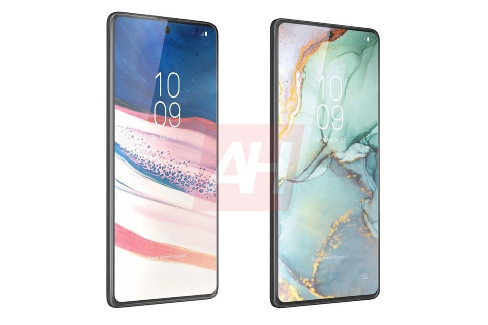 "Sforum - Latest technology information page render-Galaxy-Note-10-Lite-S10-Lite-1 Leaked renderings of Galaxy Note 10 Lite and S10 Lite: Ultra-thin ""moles"", ""chin"" screens"