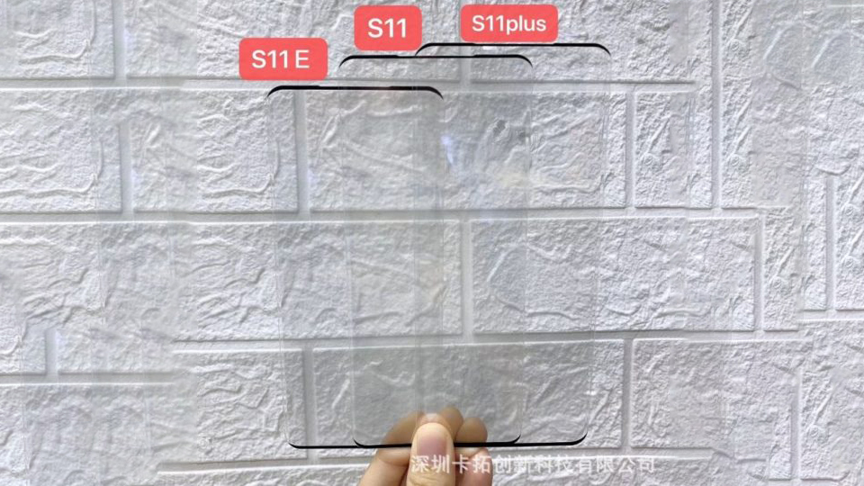 Sforum - Galaxy-s11-screen-sizes-protective-films-1 Latest technology information page A new leak shows the size difference between the Galaxy S11, S11e and S11 + trio