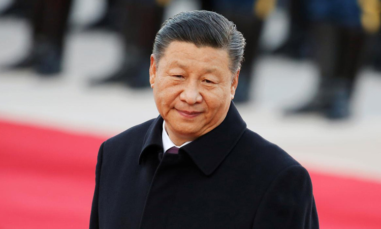 Chinese President Xi Jinping outside the Great Hall of the People in Beijing on October 25. Photo: Reuters.