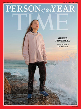 Greta Thunberg was named Time of the Year by Time magazine