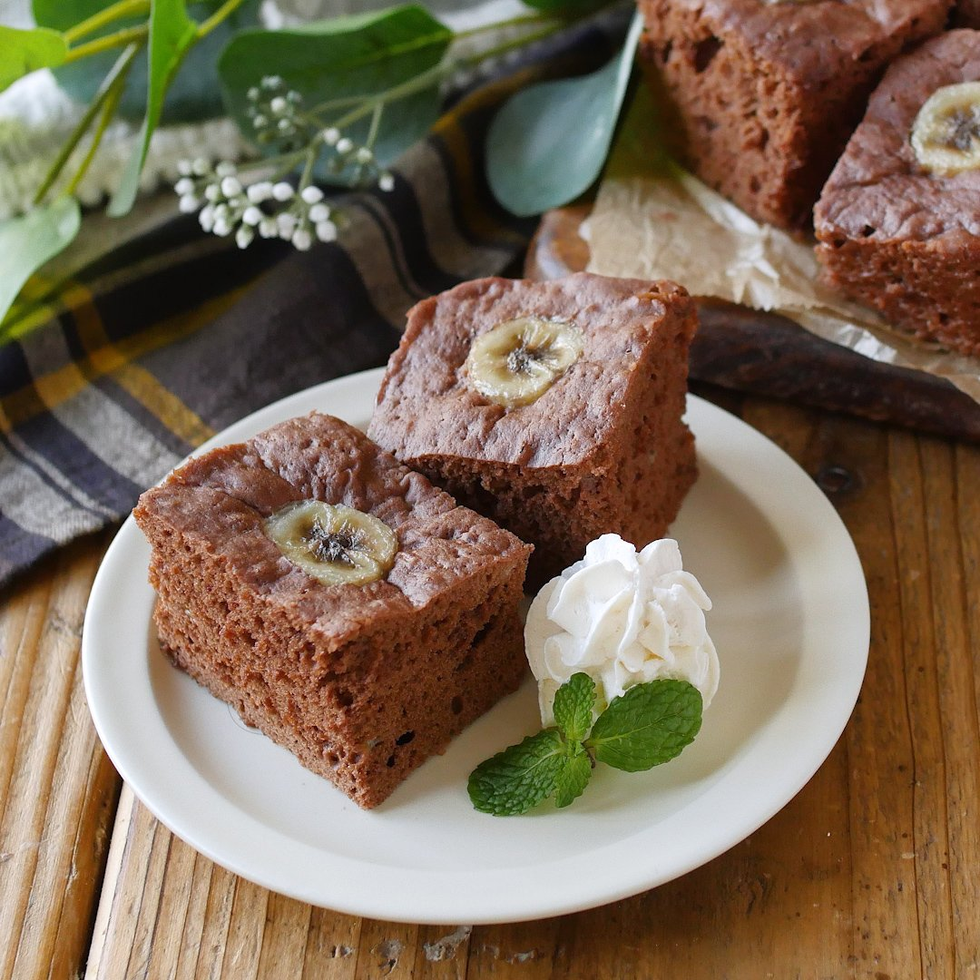 recipe Made with rice flour!Chocolate banana steamed bread