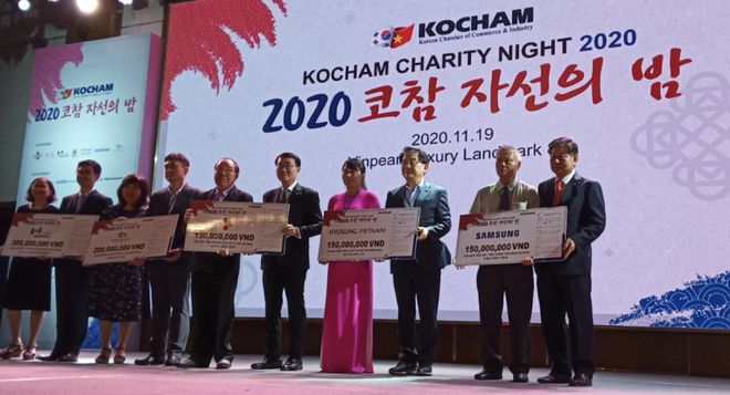 Charity Night of Korean businesses donated nearly 6 billion VND - photo 1