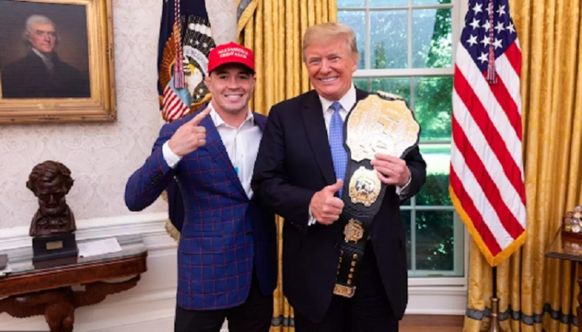 Is the belt Colby Covington gave Donald Trump isn't the real UFC belt?