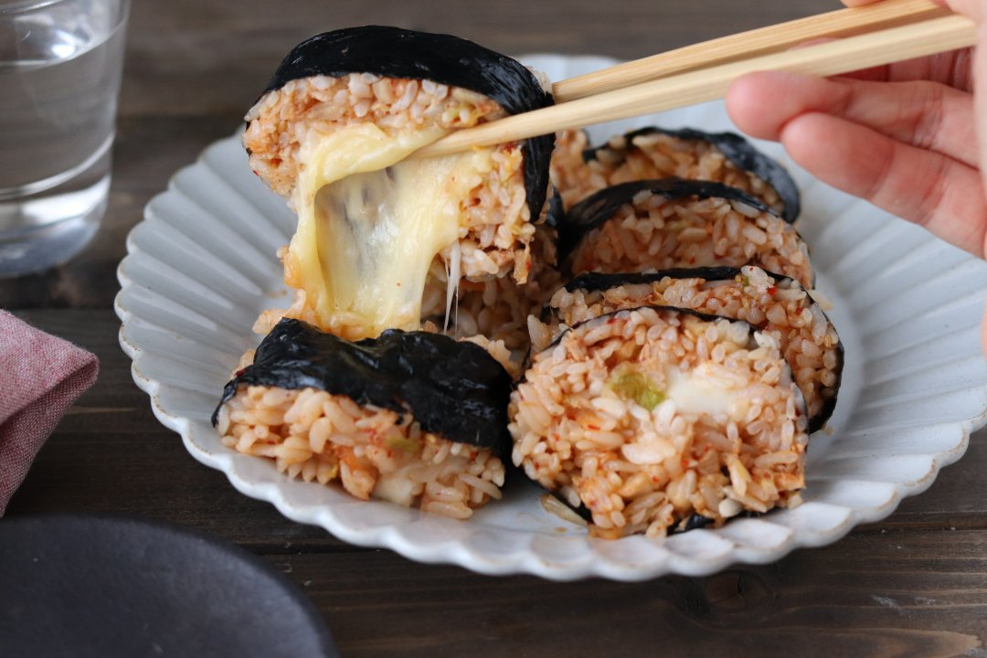 recipe Completed in 15 minutes! Just mix and roll Kim Cheese Gimbap[OL work rice]