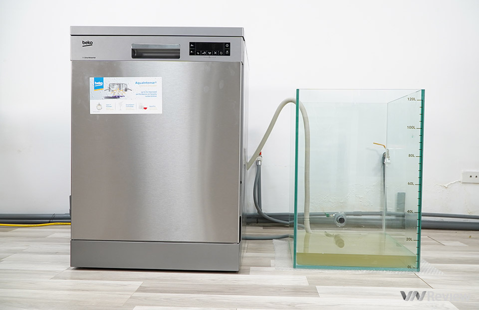 Experience the Beko DFN28422X dishwasher: wash a lot and very clean, install independently like a washing machine - VnReview