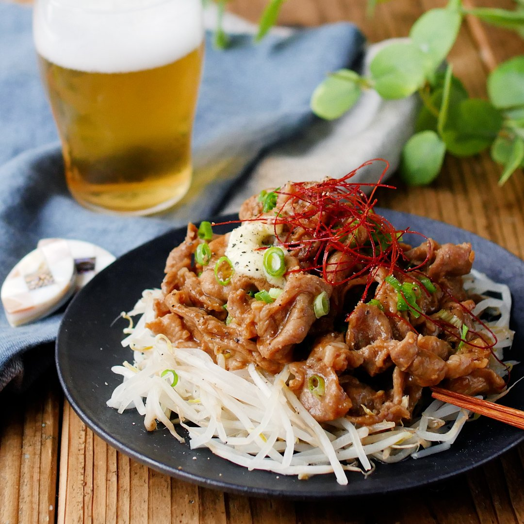 recipe 10 minutes quickly!Pepper pork sprouts