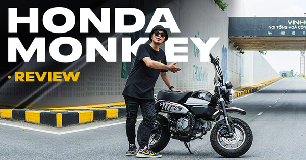 Rong plays day by day on Honda Monkey like clam monkeys on Vietnamese streets