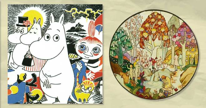 Delicate frescoes are created by Tove Jansson - author of the legendary Moomins 10 minutes