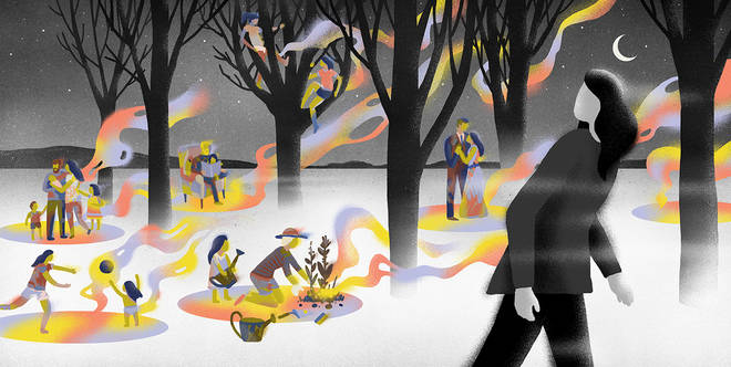 The magazine's gentle and 'chill' illustration carries the theme of 3-minute meditation