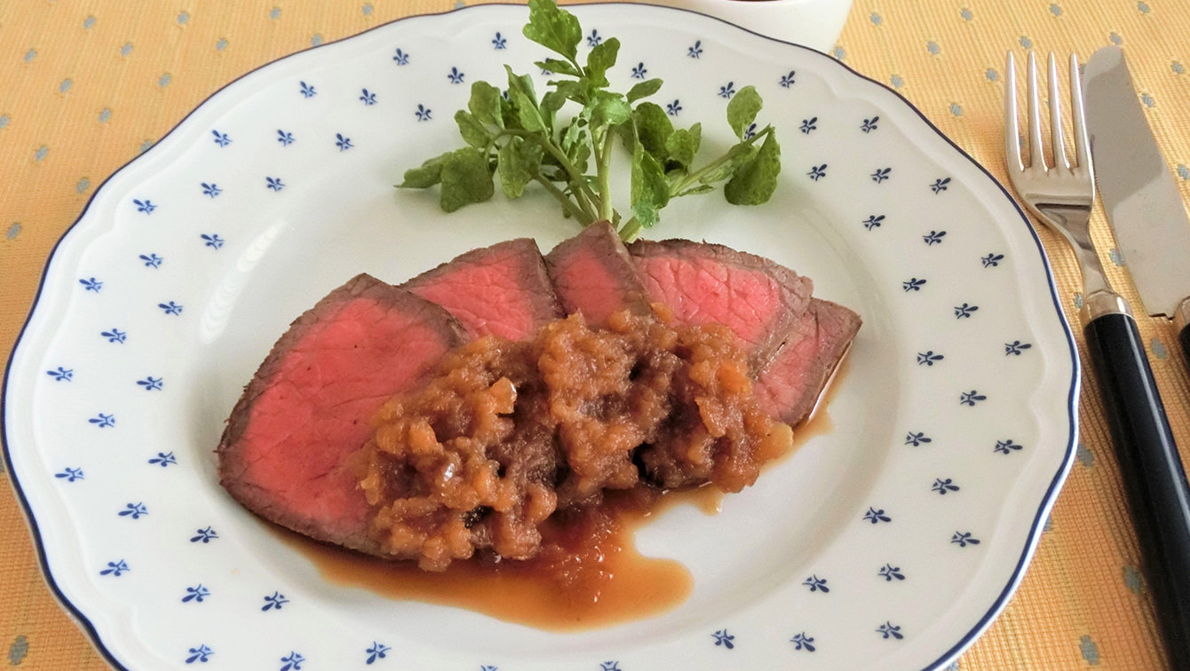 recipe With one frying pan!Easy roast beef & onion sauce recipe