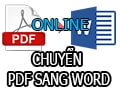 Some ways to convert pdf to word online do not use software