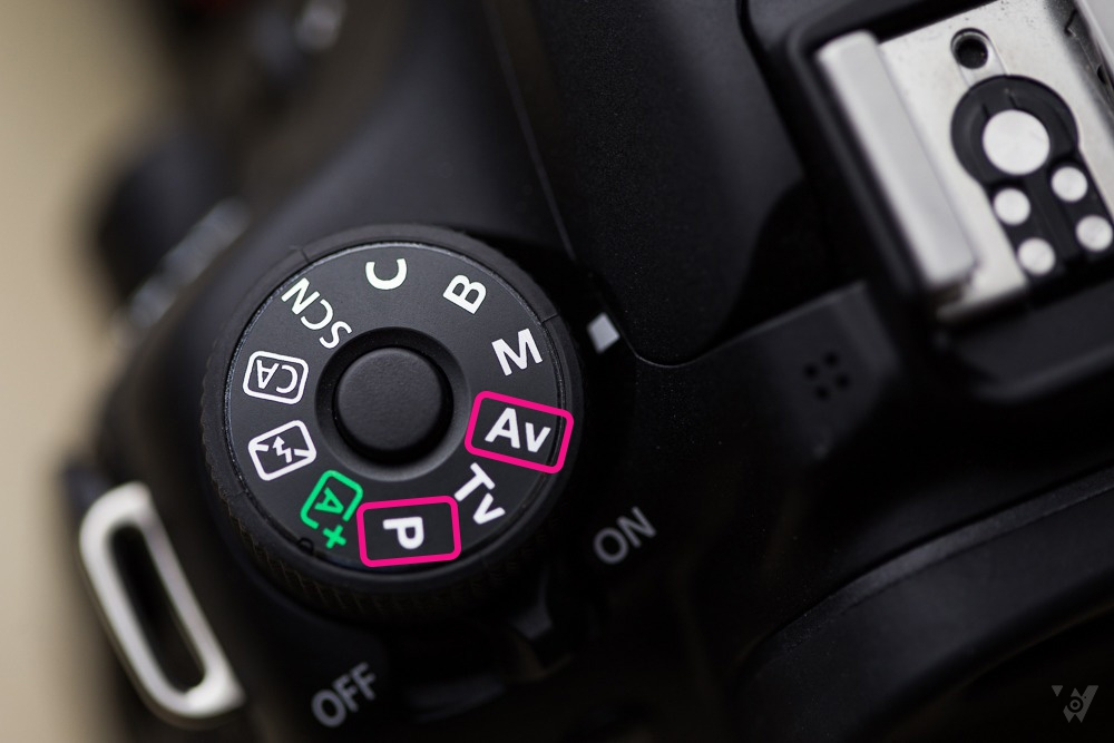 What are the aperture (A / AV) and shutter (P) priority modes