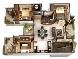 Software for drawing house plans, designing houses and premises