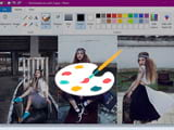 How to stitch pictures Paint on Windows 10