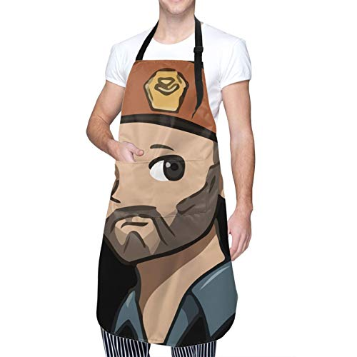 Valora-Nt Waterproof Adjustable Kitchen Apron With Pockets Bib For Cooking