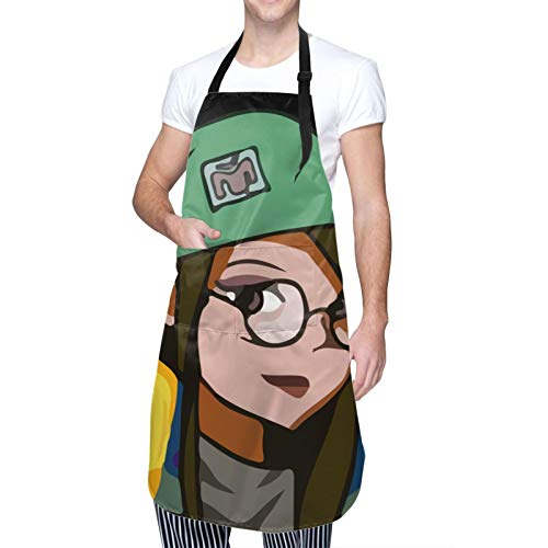 Valo-Rant Waterproof Adjustable Kitchen Apron With Pockets Bib For Cooking