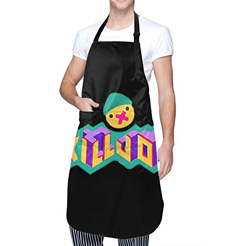 Valorant-Collectible-Killjoy-Spray Waterproof Adjustable Kitchen Apron With Pockets Bib For Cooking