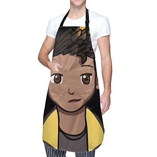 V-Alorant Waterproof Adjustable Kitchen Apron With Pockets Bib For Cooking