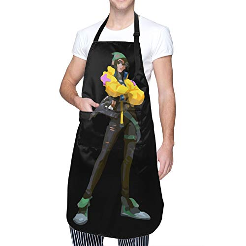 Agent-Killjoy Waterproof Adjustable Kitchen Apron With Pockets Bib For Cooking
