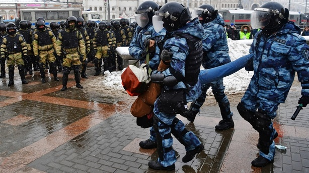 Protest at the weekend Russia, Moscow denounced the West