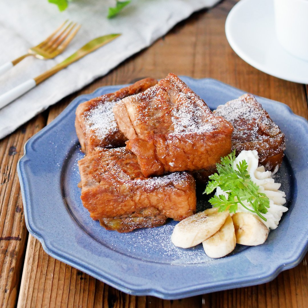 Save time in the recipe range!Banana french toast