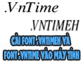 How to install VntimeH font and VNTime font on computer, laptop like?