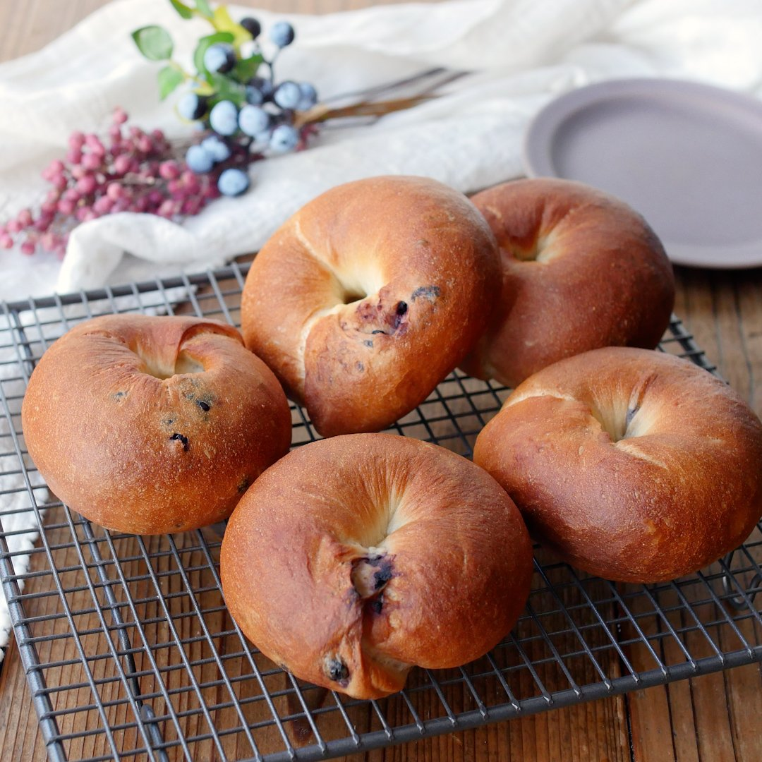 recipe Mugyutto texture.blueberry bagel