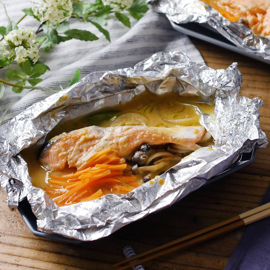recipe Chan-chan grilled style.Grilled salmon in foil