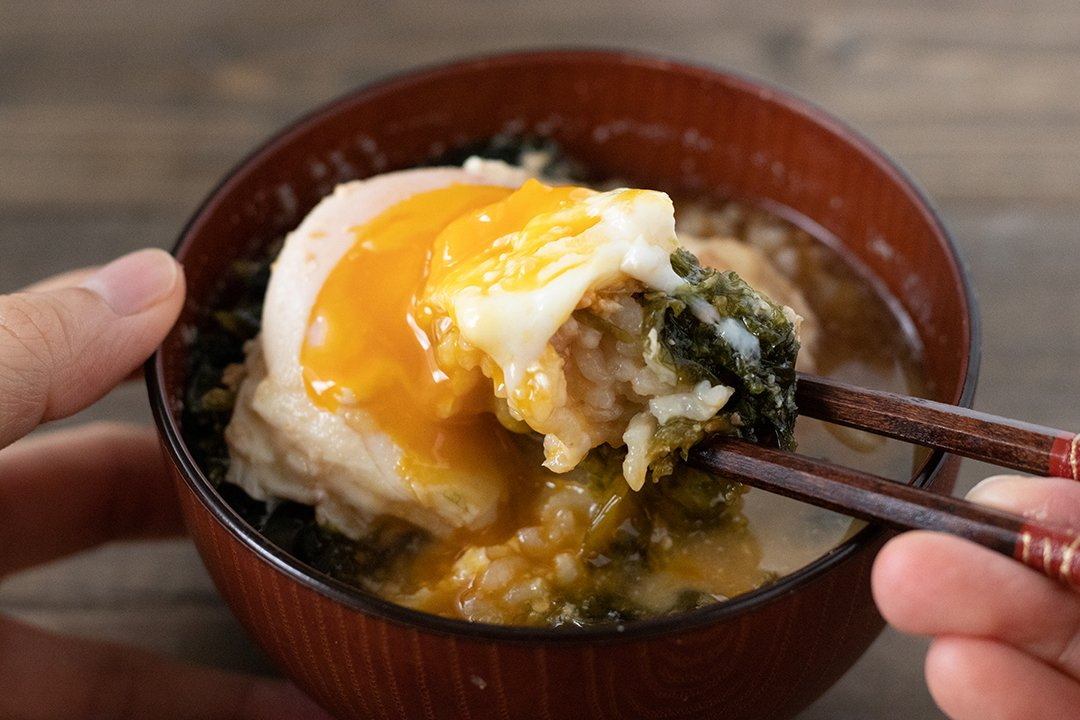 "recipe Quickly make and warm your body ♪ ""Bullet Train! Sea lettuce miso soup rice""[My grotesque meal Vol.2]"