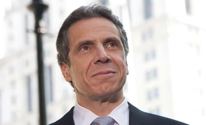 """Both the left and the right side """"could not stand it"""" the Governor of New York Cuomo"""