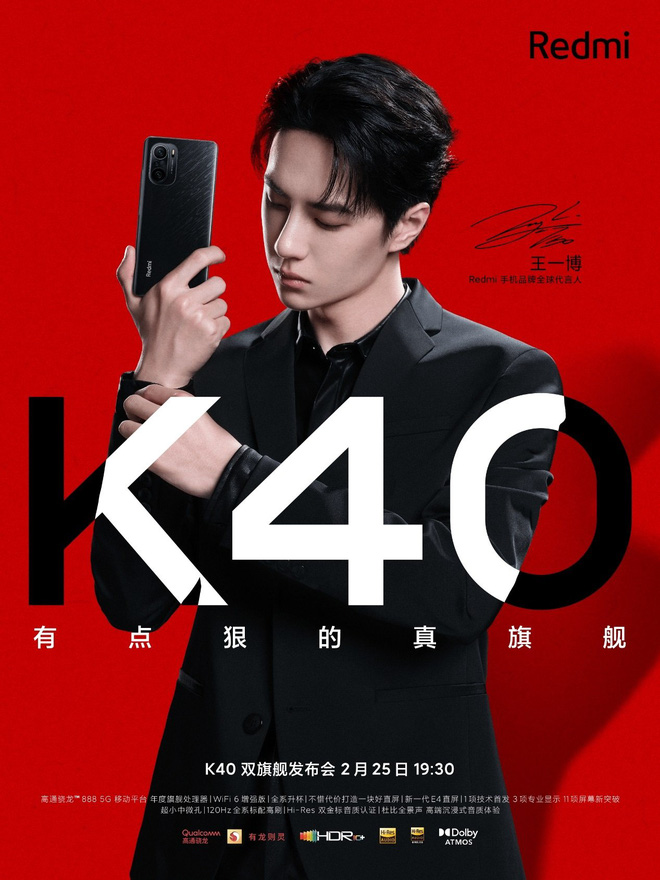 Redmi K40: The same design as Mi 11, Pro version running Snapdragon 888 chip, upgraded speaker, 4520mAh battery, launched on February 25 - Photo 1.