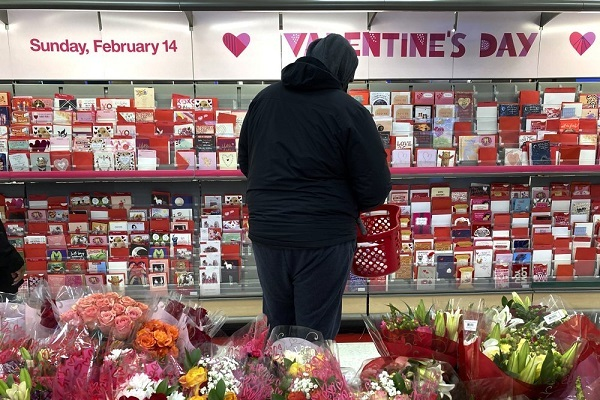 Gloomy Valentine's Day in America due to disease