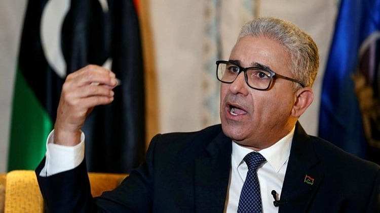Libyan Interior Minister Bashagha gave an interview in Tunisa in March 2020.  Photo: Reuters