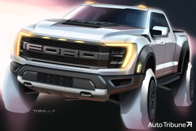 """2021.02.05.  27,978 read Pride Crumpled Ford F-150 Raptor, """"The 700 horsepower Raptor R will be released next year.""""       Auto Tribune 84"""