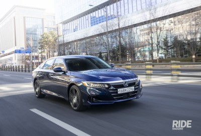 2021.02.22.  8,316 reads High-efficiency powertrain for a quiet driving experience, Honda Accord Hybrid Ride Magazine 53