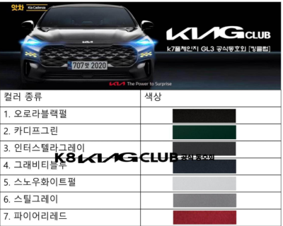 2021.02.08.  44,233 read Kia Motors K7 Full Change Released!  K8 and other built-in colors are first released!  Jefflix JEFLIX 54