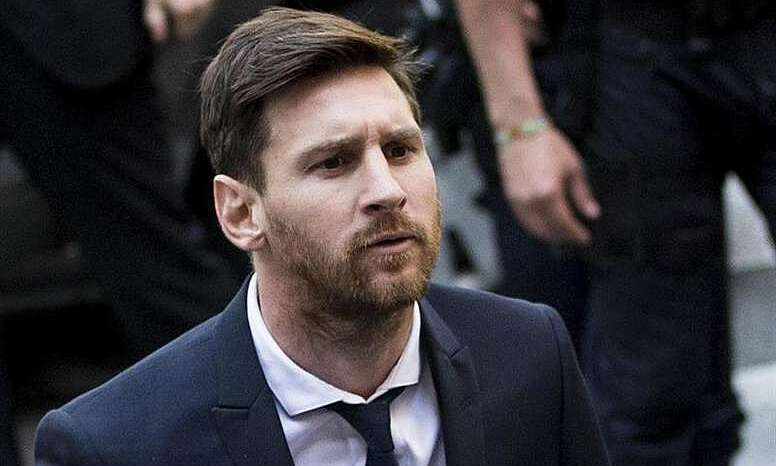 Messi was in court for not paying taxes in Spain.  Photo: EFE