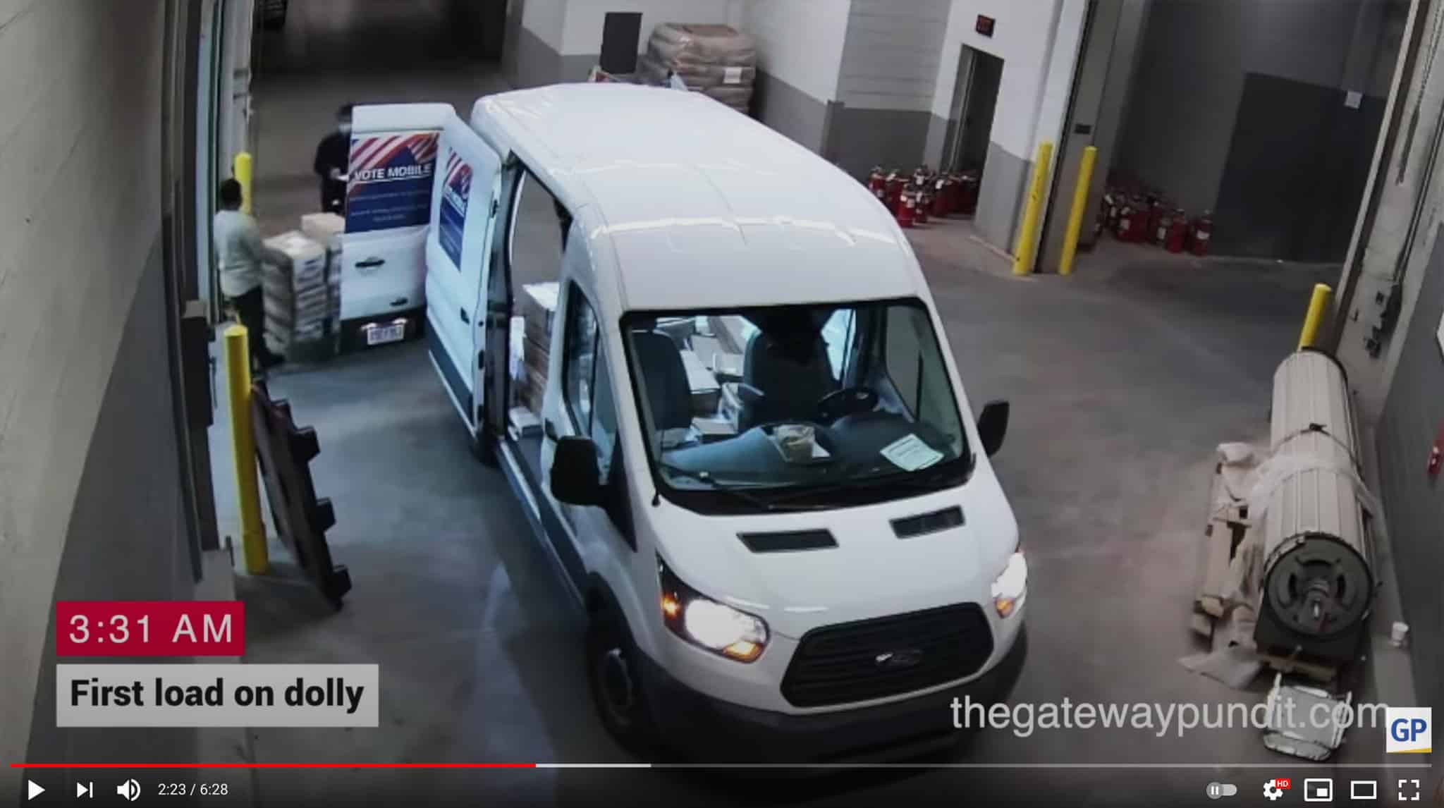 Videos of dozens of boxes were delivered to the counting center in Michigan early on the morning of November 4